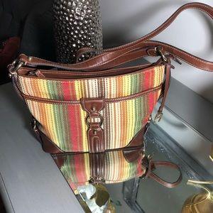Etienne Aigner Shoulder Bag: Brown Stripes